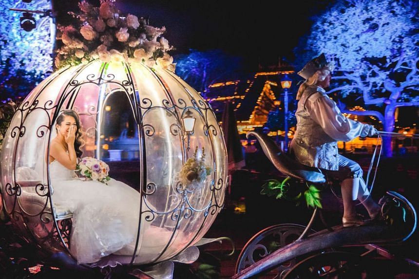 Disney's Fairy Tale Weddings is the company's wedding branch and the name of a special on the Walt Disney Co's Freeform cable channel offering a behind-the-scenes look at weddings held at Disney.