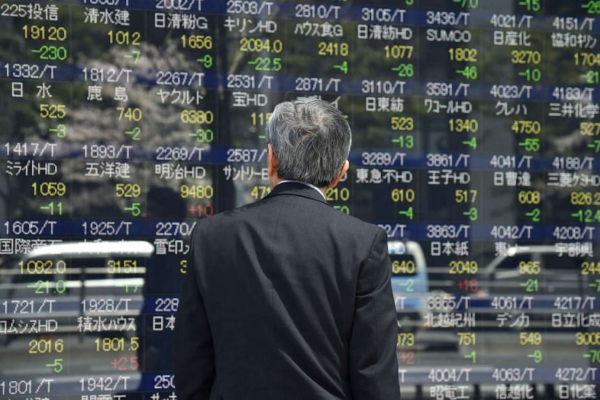 Asian stock markets were subdued, taking their cue from a flat Wall Street.