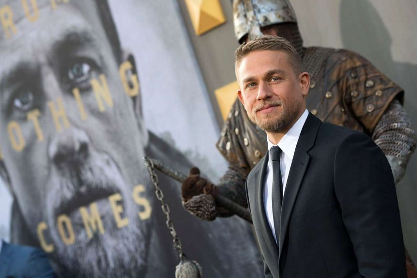 Charlie Hunnam, who plays the part of  Arthur, at  the world premiere of Arthur: Legend Of The Sword, at the TCL Chinese Theatre on May 8, in Hollywood.