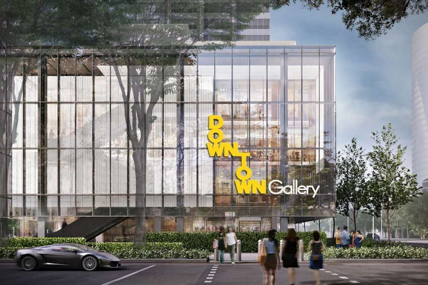 Artist's impression of OUE Downtown Gallery.
