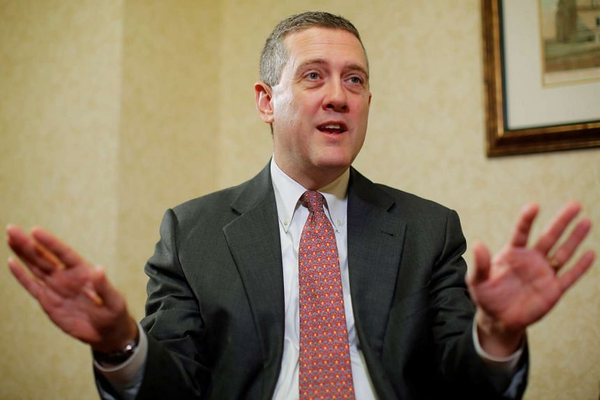 James Bullard, President of the St. Louis Federal Reserve Bank, speaks during an interview in 2013.