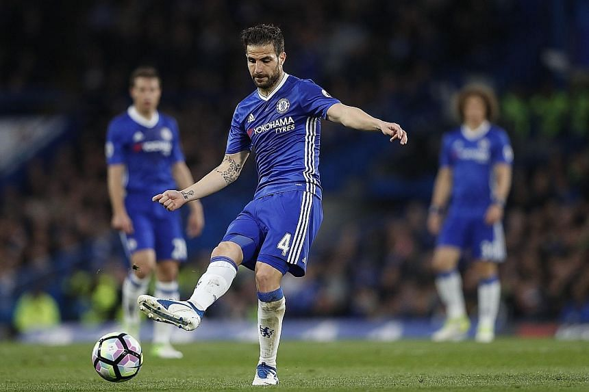 Cesc Fabregas was inspirational in the victory over Middlesbrough, which left Chelsea just one win away from the league title.