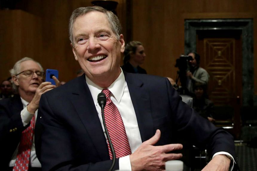Robert Lighthizer smiles before a Senate Finance Committee confirmation hearing.