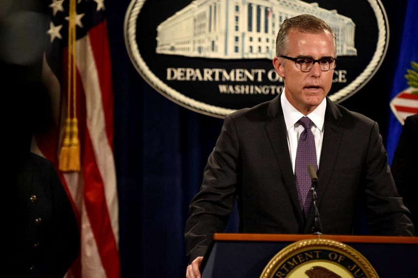 FBI deputy director Andrew McCabe (above) is one of the four under consideration.