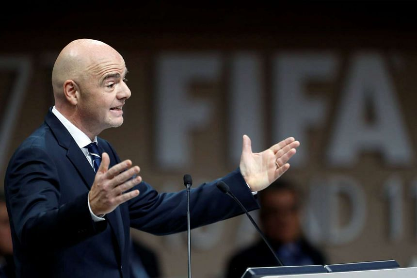 Fifa president Gianni Infantino speaks at the 67th Fifa Congress in Manama, Bahrain, May 11, 2017.