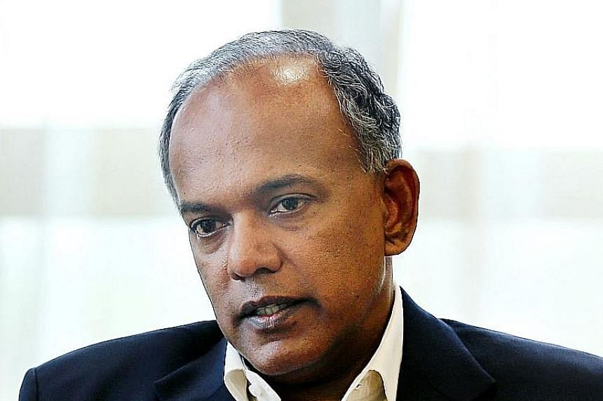 """Law and Home Affairs Minister K. Shanmugam said Mr Low's comments """"seriously misconstrued"""" what he said. Apologising to Mr Shanmugam, academic Donald Low said his criticism was """"untruthful, unfair and unsubstantiated""""."""