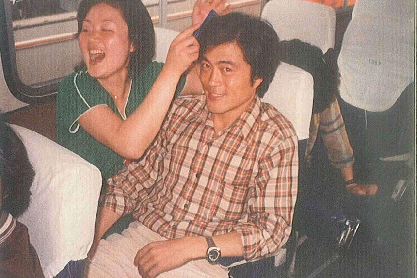 File photo of Moon Jae In and his wife Kim Jung Sook when they were university students.