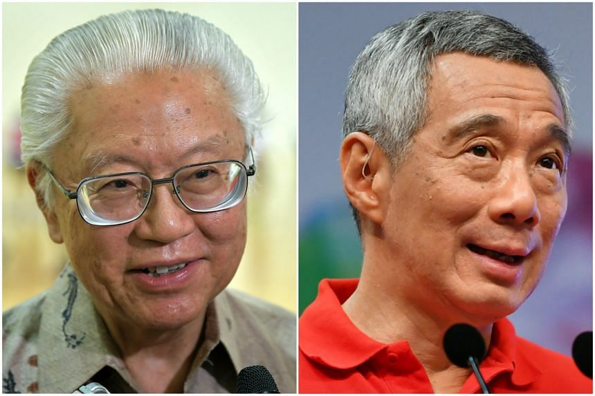President Tony Tan Keng Yam (left) and Prime Minister Lee Hsien Loong.