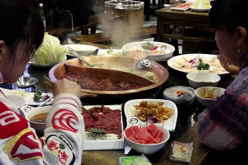 Hotpot is very popular in Wuhan, and people seem to indulge in it all times of the day.
