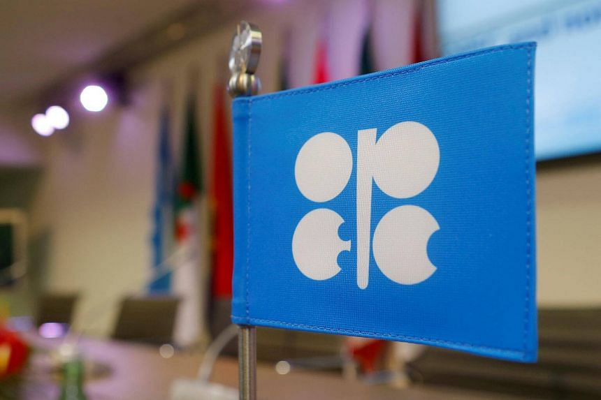 A flag with the Organization of the Petroleum Exporting Countries logo at Opec's headquarters in Vienna, Austria, on Dec 10, 2016.
