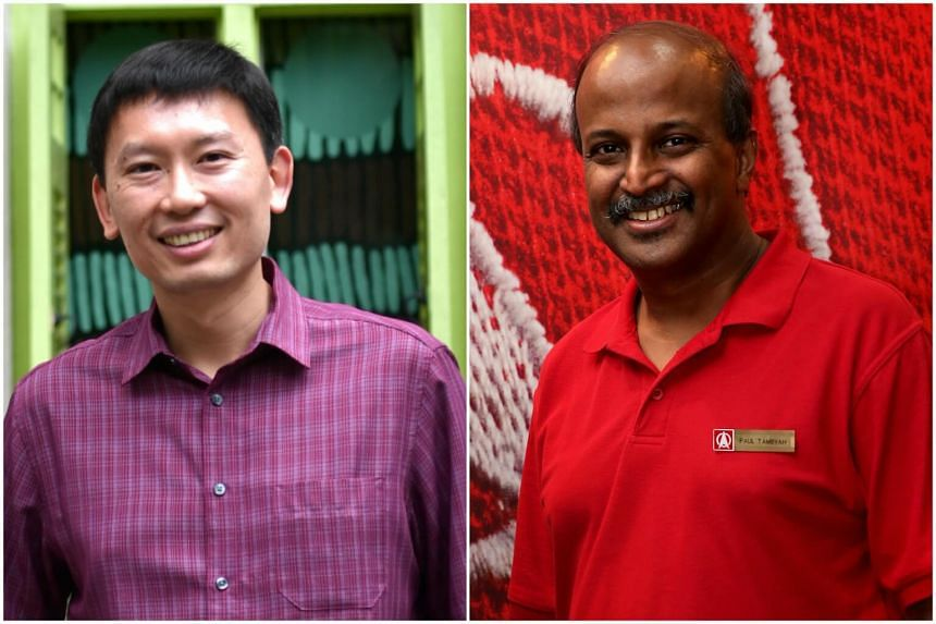 Senior Minister of State for Health Chee Hong Tat (left) has taken Singapore Democratic Party's Professor Paul Tambyah (right) to task for comments made at a May 1 forum.