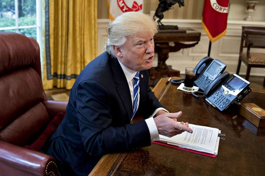 The order signed by Trump (above)  seeks to improve the network security of US government agencies.
