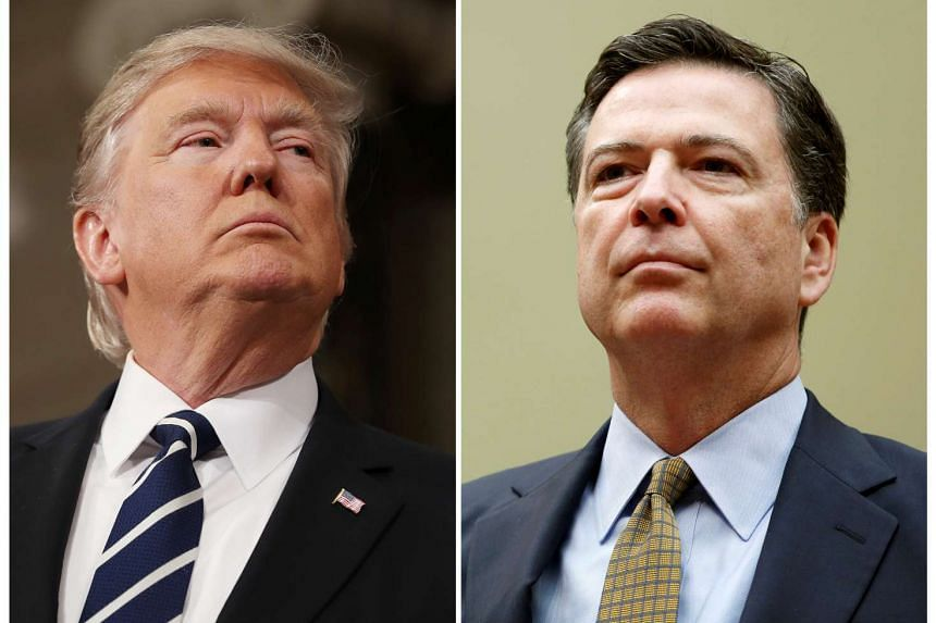 A combination photo shows US President Donald Trump (left) and FBI Director James Comey.