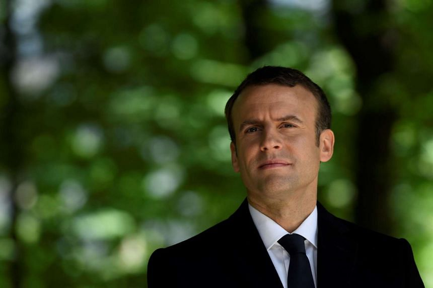French newly elected president Emmanuel Macron at the Jardins du Luxembourg in Paris on May 10, 2017.