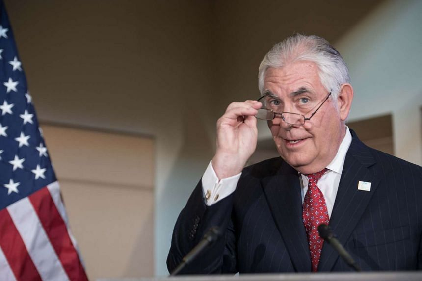 Tillerson prepares to address the gathering in Fairbanks, Alaska, on May 10, 2017.