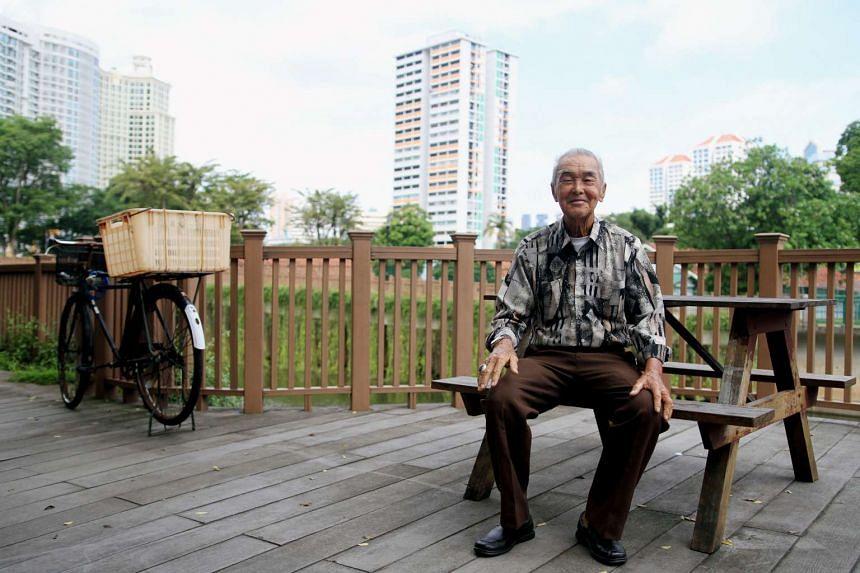 Mr Tang Kong Yuan, an 89-year-old former vendor at Sungei Road.