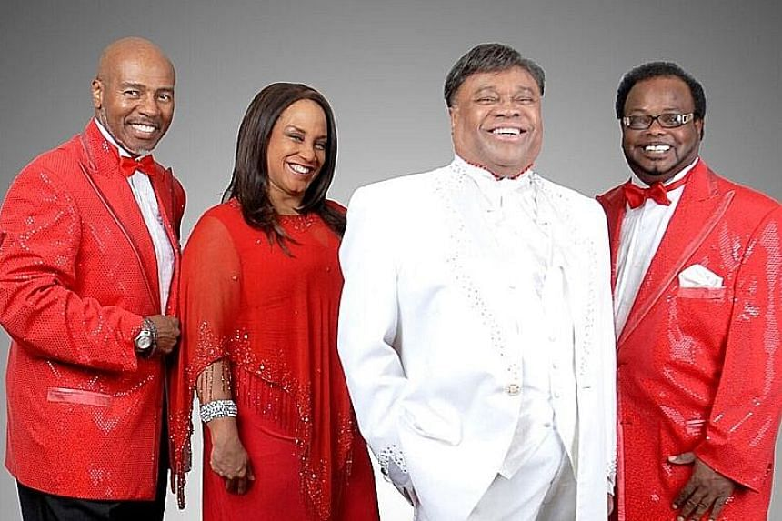 Sonny Turner (in white) with the rest of The Platters. He says his mother, gospel singer Pearl Turner, was the one who got him into music.