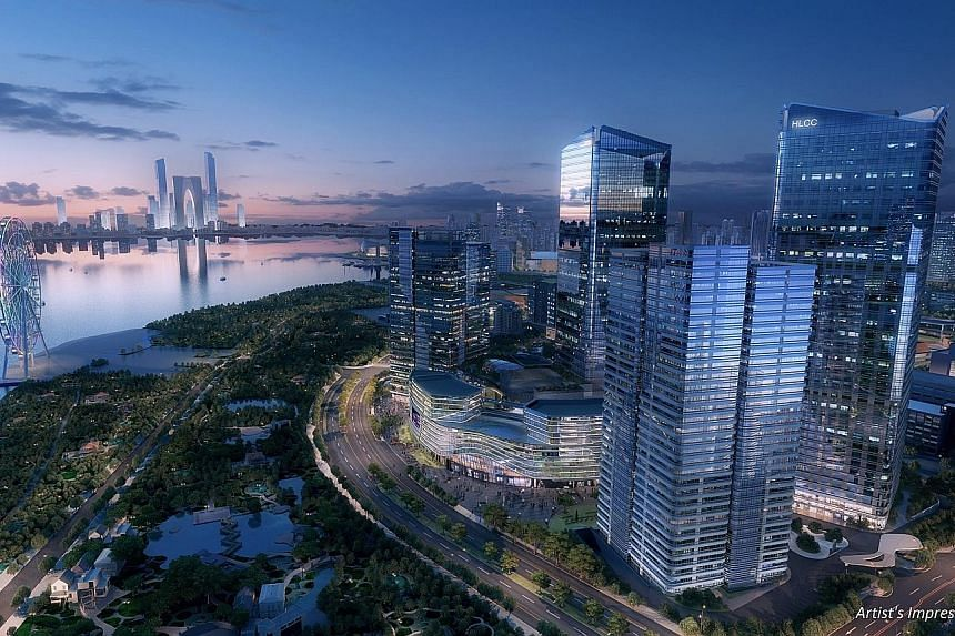 City Developments' revenue growth was due to improved performance from the property-development segment, which was primarily led by home sales at The Suzhou Hong Leong City Centre (above) and Gramercy Park in Singapore.