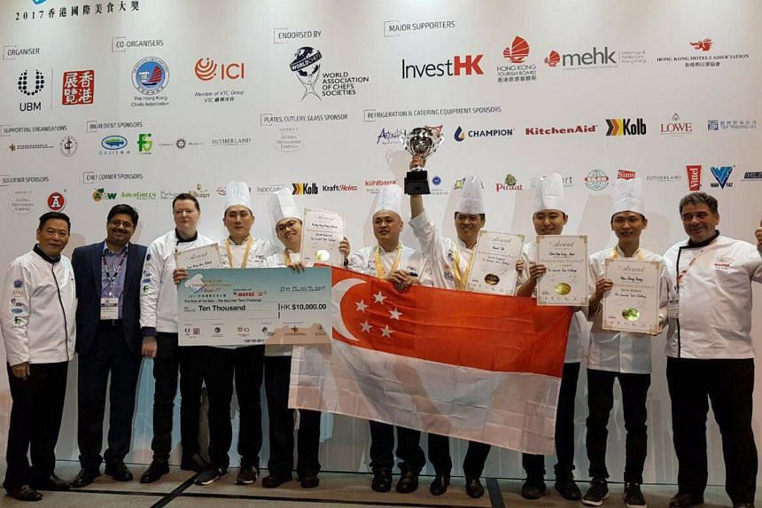 The Singapore team topped the Hong Kong International Culinary Classic Competition on May 11, 2017.