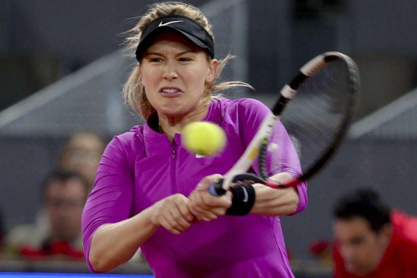 Eugenie Bouchard in action during her third round match against Svetlana Kuznetsova.