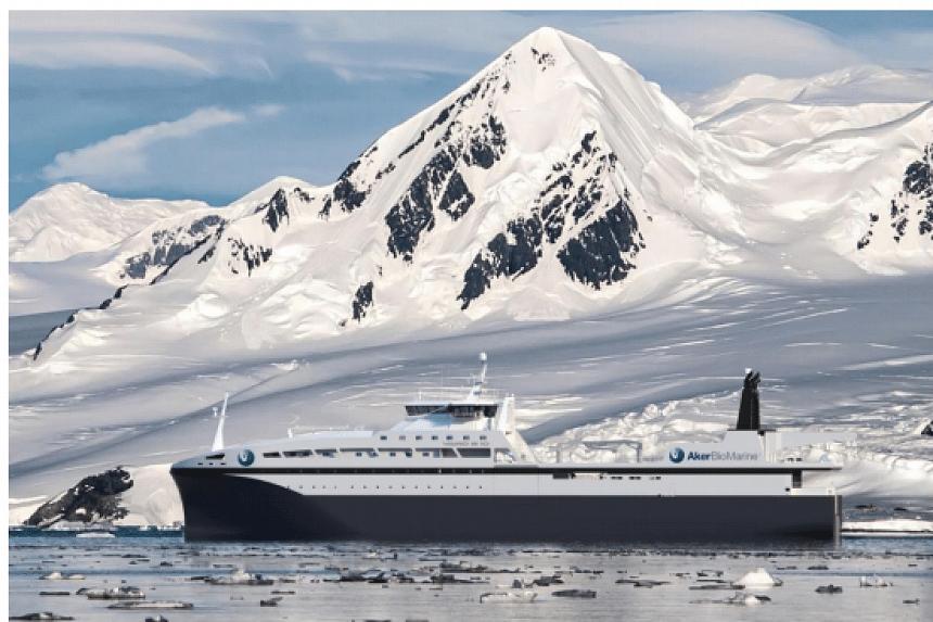 A krill fishing vessel for Aker BioMarine.