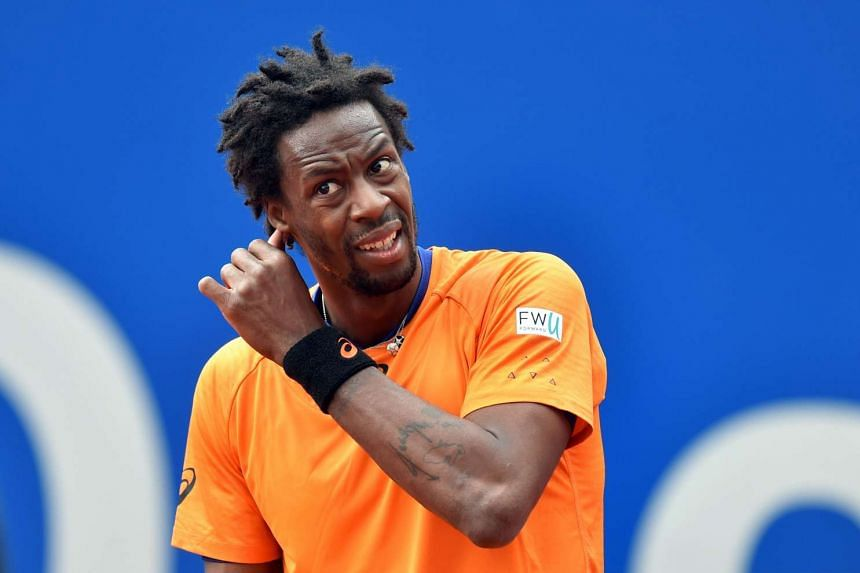 Gael Monfils competing in the Munich Open on May 4, 2017.