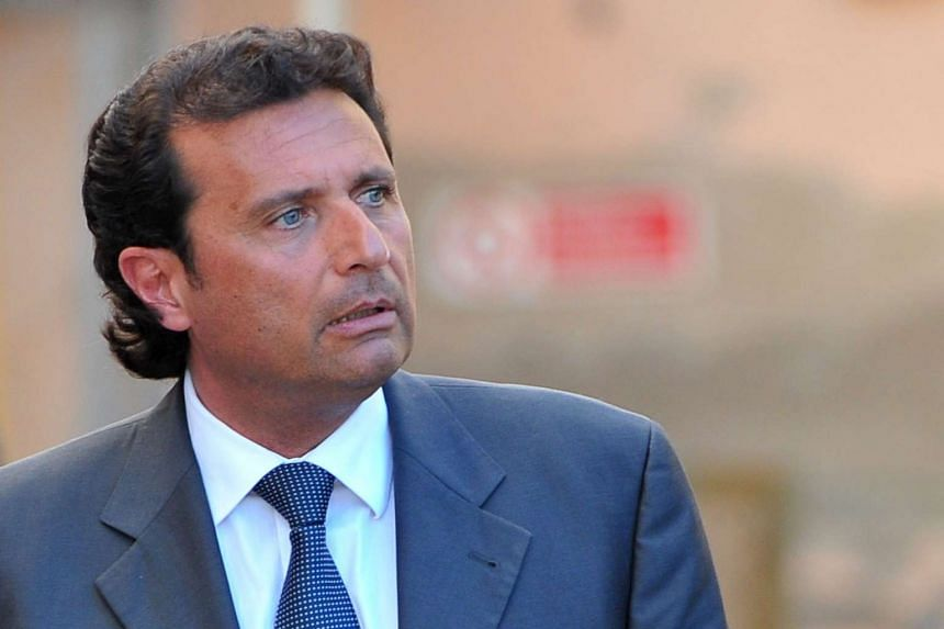 Schettino (above) was convicted in 2015 – three years after the incident – of multiple counts of manslaughter.