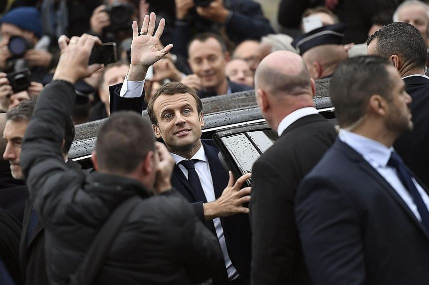 French President-elect Emmanuel Macron in Le Touquet, northern France, on May 7 during the second round of the election. The success of his presidency depends to a large extent on European cooperation. Without either greater fiscal flexibility or tra