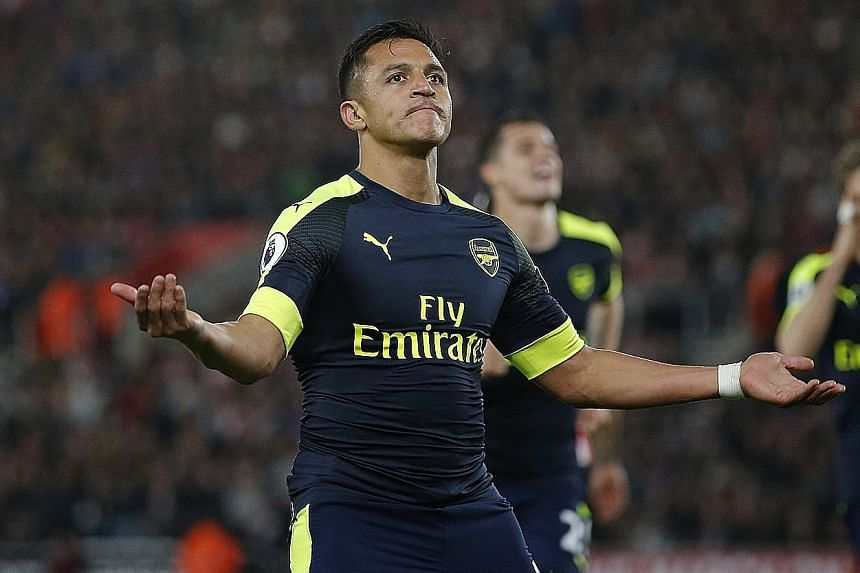 Arsenal will be banking on Alexis Sanchez - who has scored 14 away goals - to lead the line against Stoke City.