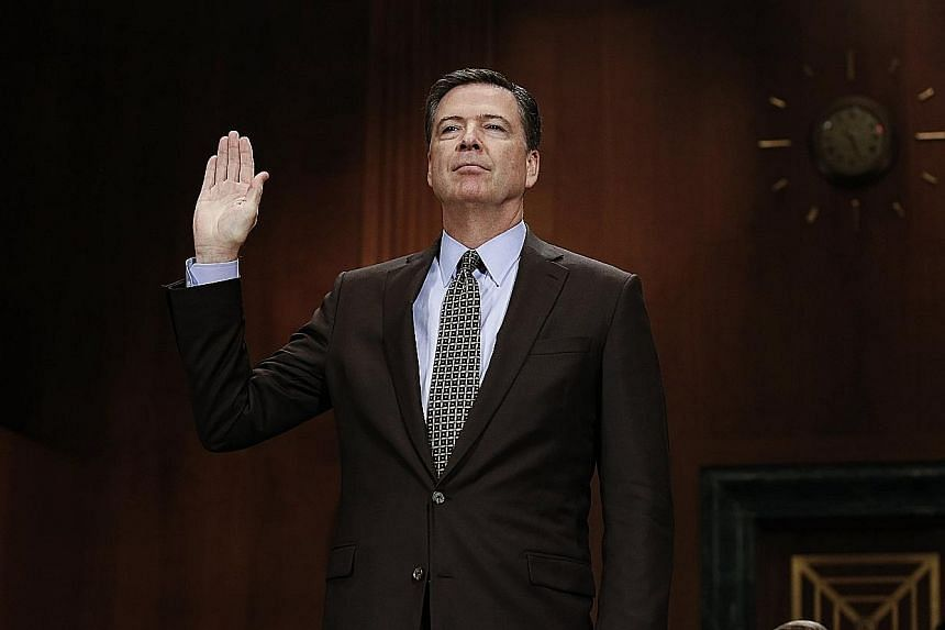 According to Mr James Comey's account of a dinner conversation in January with Mr Donald Trump, the then FBI director declined to pledge his loyalty to the President, offering him honesty instead.