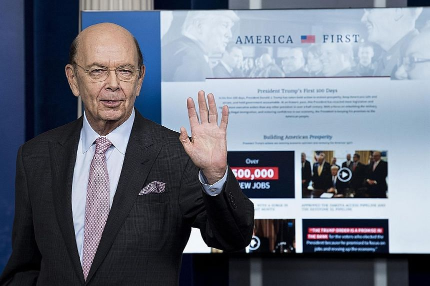 US Secretary of Commerce Wilbur Ross after a briefing at the White House in Washington, DC last month. He hailed the trade deal with China and denied suggestions that it was linked to US pressure on China to use its economic leverage to get North Kor