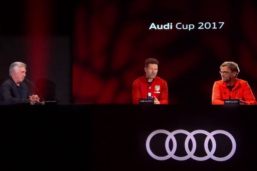 3D images of Klopp and Simeone were beamed in real time to a press conference in Munich.