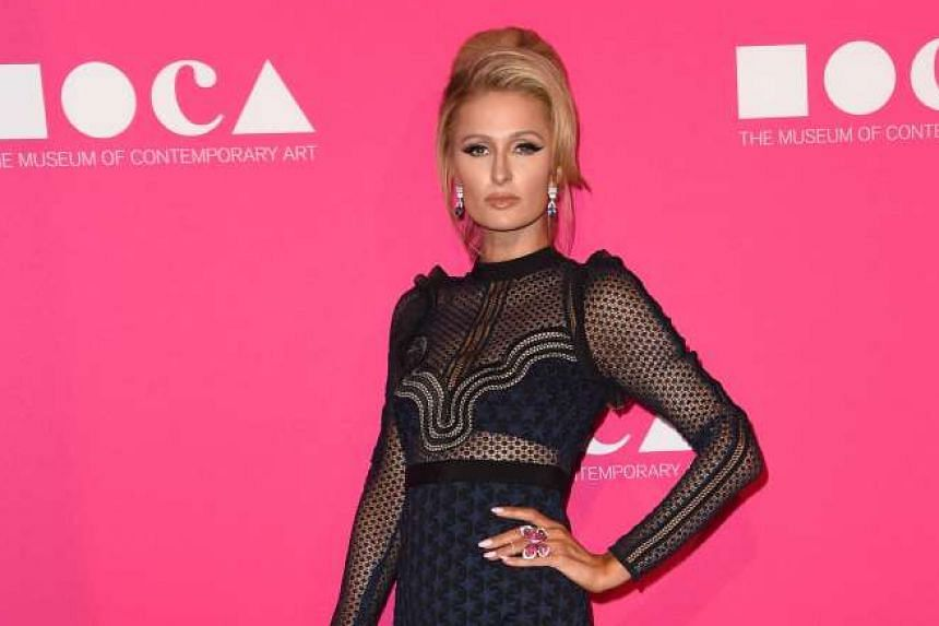 Socialite Paris Hilton at The Museum of Contemporary Art (Moca) annual gala at The Geffen Contemporary at Moca in Los Angeles last month. She keeps busy these days with business projects.