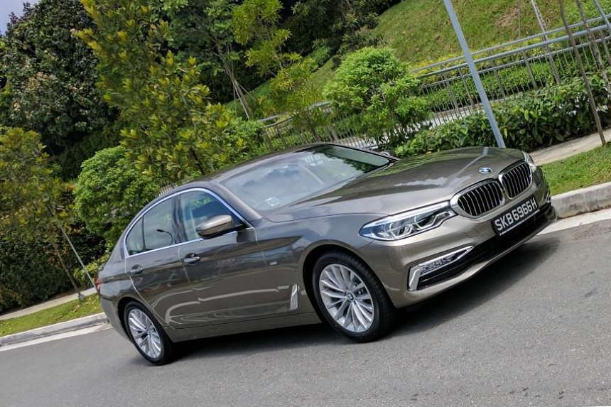 The BMW 520d, with a 2-litre diesel engine, acquits itself well on crowded city streets and highways.