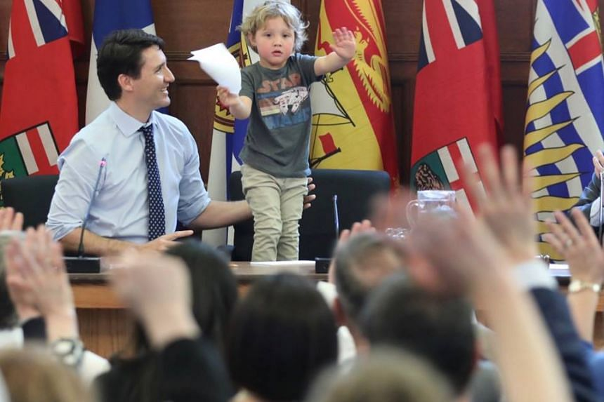 Hadrien and his father meet with politicians on Thursday (May 11).