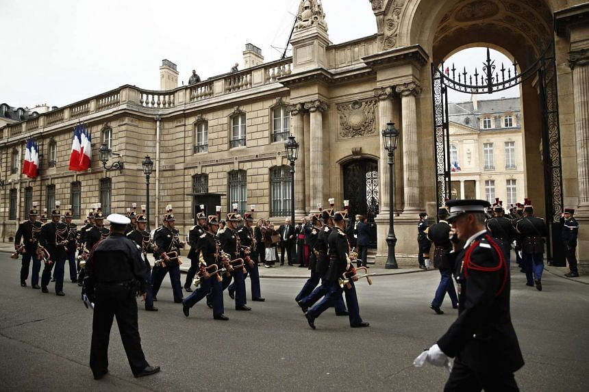 The handover ceremony for new French President Emmanuel Macron will be full of pomp with the French Republicans guards providing the guard of honour. PHOTO: EPA