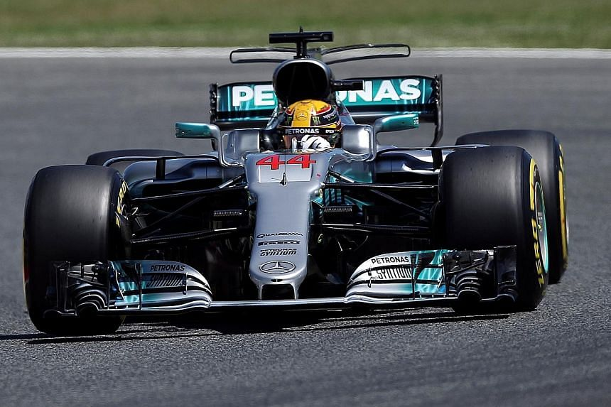 Mercedes' Lewis Hamilton appeared to have recovered some pace during qualifying in Spain after his sluggish performance in Russia. He will have little breathing space, with the drivers' championship leader Sebastian Vettel starting on the front row a