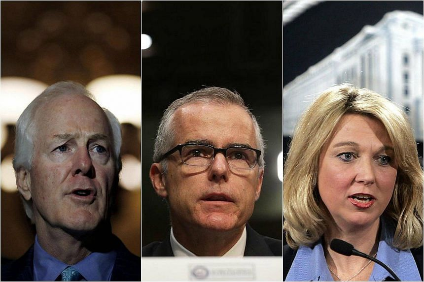 Among those in the running for the FBI director post are Mr John Cornyn, Mr Andrew McCabe and Ms Alice Fisher.