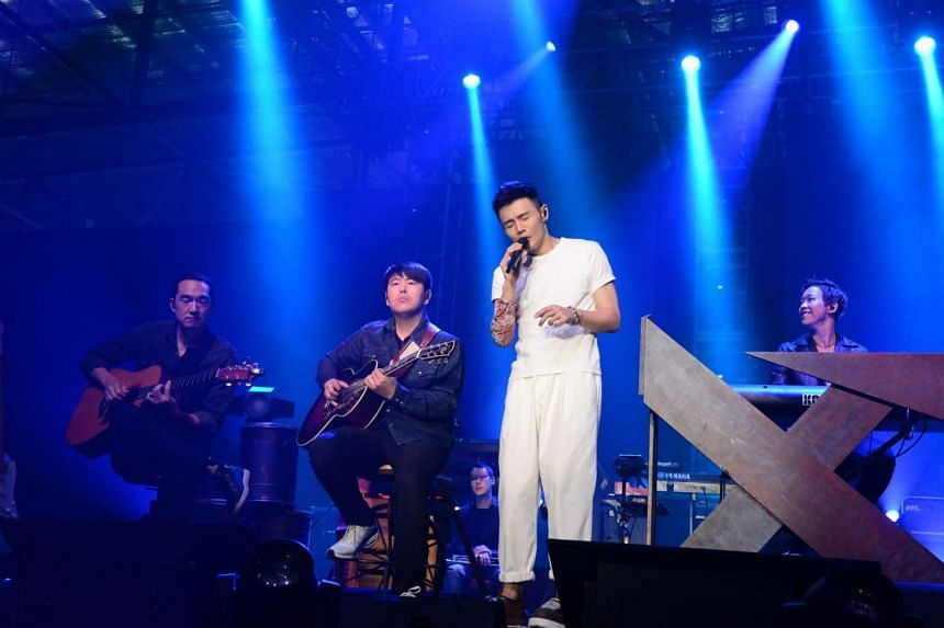 Singer-songwriter Li Ronghao performing at the Max Pavilion on May 13, 2017.