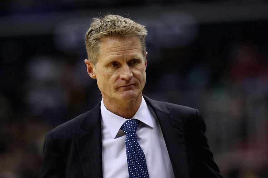 Golden State Warriors coach Steve Kerr attended a practice session for the first time since April 19, because of recurring issues from back surgery.