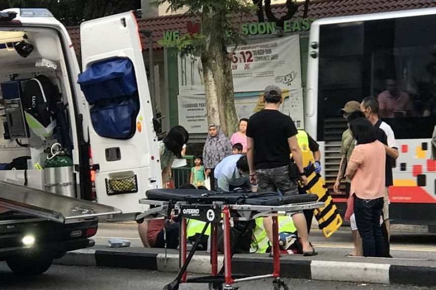 A 10-year-old boy allegedly knocked down by a car in Yishun on Sunday (May 14) evening was taken to hospital with severe injuries.