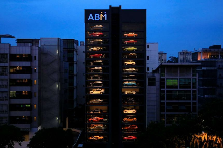 An exotic used car dealership designed to resemble a vending machine in Singapore.