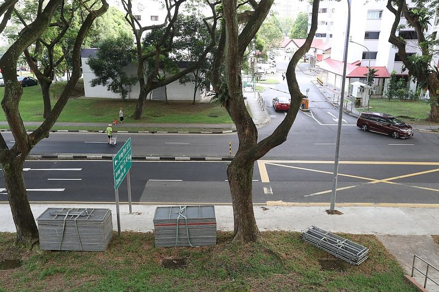 The scene of the accident in Jurong West Avenue 1.