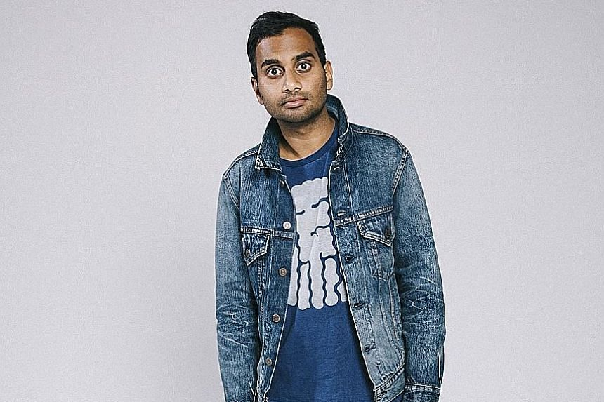 Aziz Ansari (above) plays a New York actor in Master Of None (also starring Alessandra Mastronardi).