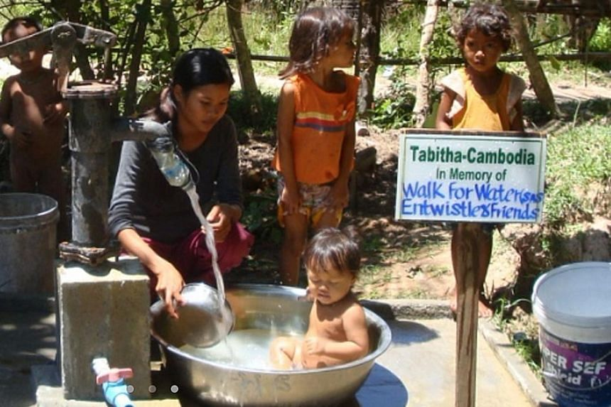 Families in Cambodia have benefited from the wells built by the Tabitha Foundation, with money raised through the Walk for Water initiative.