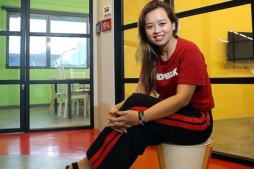 """Ms Candice Ong said she is """"super glad"""" she took a drastic 70 per cent pay cut in 2012 to join Zalora. Less than a year later, she became its managing director. In January, she joined smaller home-grown start-up ShopBack."""