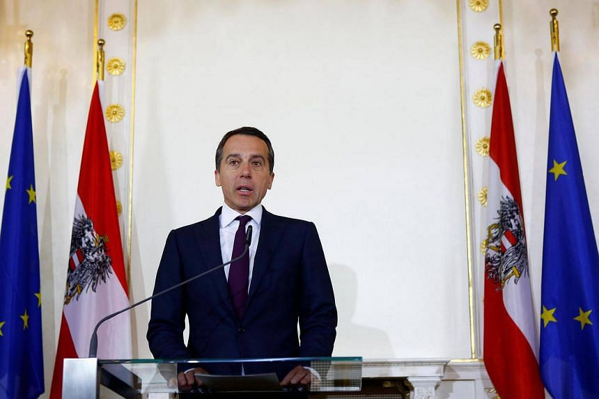 Austrian Chancellor Christian Kern addresses a news conference in Vienna, Austria on May 10, 2017.