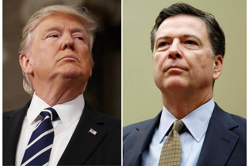 US President Donald Trump (left) and FBI Director James Comey.