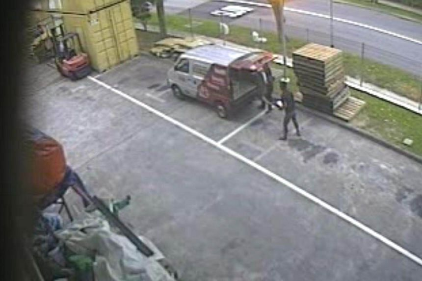 Screenshot of the CCTV footage of the Aibi equipment being loaded onto a vehicle.