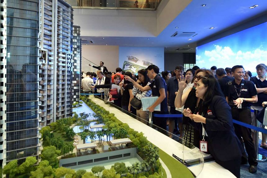 The launch of Seaside Residences for sale in April drew crowds to the showroom.